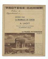 PARIS France Pittoresque Protège-cahier TB 2 Scans Tables D'opérations Clermont Oise - Book Covers