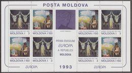 Europa Cept 1993 Moldova 2v In 1 Sheetlet  ** Mnh F6848) - Europa-CEPT