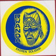 Sticker Autocollant Ekeren Solidair Rwanda Ethnic Mask Africa Human Aid Adesivo - Autocollants
