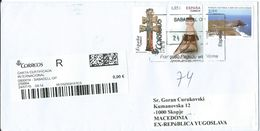Spain R - Letter Via Macedonia.nice Stamps - 2011-... Lettres