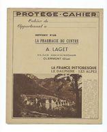 Dauphiné Alpes France Pittoresque Protège-cahier TB 2 Scans Tables D'opérations Clermont Oise - Book Covers