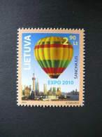 EXPO 2010 Shanghai. Balloon # Lietuva Litauen Lituanie Litouwen Lithuania 2010 MNH # Mi. 1036 - Lithuania