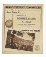 AUVERGNE France Pittoresque Protège-cahier TB 2 Scans Tables D'opérations Clermont Oise - Book Covers