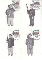 Carte Max  1872 Liège Outremeuse Et Tchantches - 4 Exemplaires - Maximum Cards