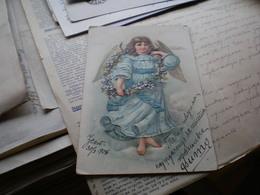 Constitution Ustav Nikoldan 5  1906 Litho Angels Embossed Postcards - Montenegro
