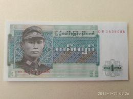 1 Kyat 1972 - Myanmar