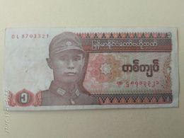 1 Kyat 1990 - Myanmar