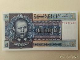 5 Kyat 1973 - Myanmar