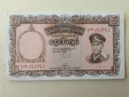 5 Kyats 1958 - Myanmar
