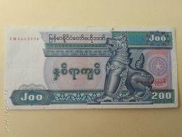 200 Kyats 1991/98 - Myanmar
