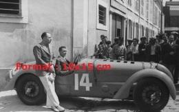 Reproduction D'une Photographie D'une Delahaye Aux 24H Du Mans De 1937 - Repro's