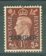 Morocco Agencies - Tangier: 1937   KGVI 'Tangier' OVPT  SG247    1½d    MH - Morocco (1956-...)