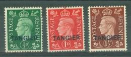Morocco Agencies - Tangier: 1937   KGVI 'Tangier' OVPT Set  SG245-247    MH - Morocco (1956-...)