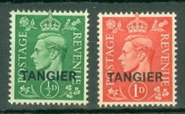 Morocco Agencies - Tangier: 1944   KGVI 'Tangier' OVPT   SG251/252      MH - Morocco (1956-...)