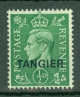 Morocco Agencies - Tangier: 1944   KGVI 'Tangier' OVPT  SG251    ½d   Pale Green  MH - Morocco (1956-...)