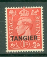 Morocco Agencies - Tangier: 1944   KGVI 'Tangier' OVPT  SG252    1d   Pale Scarlet   MH - Morocco (1956-...)