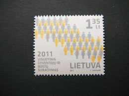 The Population And Housing Census # Lietuva Litauen Lituanie Litouwen Lithuania 2011 MNH # Mi. 1056 - Lithuania
