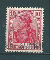 Saar MiNr. 33 * Aufdruck Stark Verschoben   (sab30) - 1920-35 Saargebied -onder Volkenbond