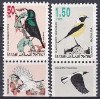 Israel 1993 Tiere Fauna Animals Vögel Birds Nektarvogel Steinschmätzer, Mi. 1257-8 ** - Israel