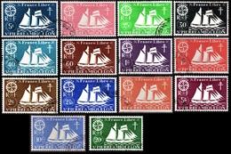 Saint Pierre Et Miquelon  1942 -   SERIE De LONDRES  Complète - YT 296 à 309  - Oblitérés - Cote  13e - Gebraucht
