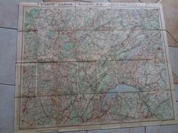 Carte  TARIDE Routière N° 10 Franche Comté Suisse Ouest  ( Sur Toile / Ou Carte Toilée ) - Roadmaps