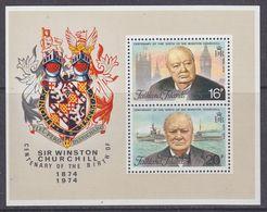 Falkland Islands 1974 Sir Winston Churchill M/s  ** Mnh (37369) - Falklandeilanden