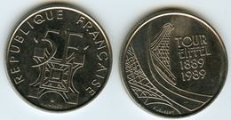 France 5 Francs 1989 Tour Eiffel GAD 772 KM 968 - France