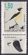 Israel 1993 Tiere Fauna Animals Vögel Birds Steinschmätzer, Mi. 1258 ** - Israel