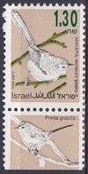 Israel 1993 Tiere Fauna Animals Vögel Birds Streifenprinie, Mi. 1280 ** - Israel