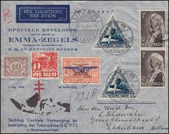 Flugpost NL-Indien Schmuck-Bf Tuberkulose/Prinzessin Emma UIVER BATAVIA 14.11.34 - Briefmarken