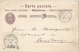 PK 14  Bischofszell - Konstanz  (RL)        1879 - Ganzsachen