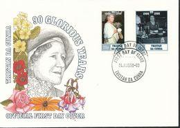 Afrika  - Mi.Nr.  493-494  FDC   90. Geburtstag Von Königinmutter Elisabeth. - Tristan Da Cunha
