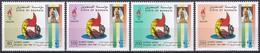 Bahrain 1996 Sport Spiele Olympia Olympics Atlanta Dhau Flaggen Flags Globus Segel, Mi. 602-5 ** - Bahrein (1965-...)
