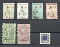 MACAO , MACAU , Lot De 7 Timbres De 1954 à 19.... - Macao