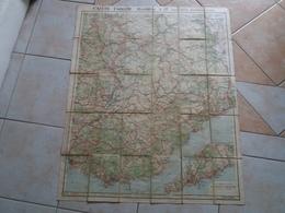 Carte  TARIDE Routière N° 17 Provence Basses Alpes   ( Sur Toile / Ou Carte Toilée ) - Roadmaps
