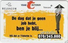 BPR-1996 : P568 5u VDAB INTERIM MINT - Belgium