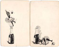 "Lot Thème "" Le Champagne "" - Menus, Enveloppes, Cartes - 4 Scan. - Other Collections"