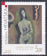 Kroatien Croatia 2001 Kunst Kultur Gemälde Paintings Künstler Slavko Sohaj Barock Akt, Mi. 593 ** - Croatie