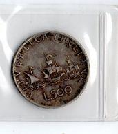 "MonB1 - ITALIA 1966 , 500 Lire ""Caravelle"" - Argento 835 - 1946-… : Repubblica"