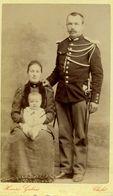 CDV - Photo Sur Carton Militaire En Famille: Henri Galais: CHOLET - War, Military