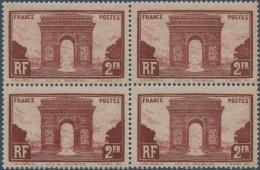 N°__258 ARC DE TRIOMPHE DE L'ETOILE 1929 NEUFS** BLOC 4 TIMBRES POSTE - Nuovi