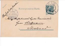 Österreich Ganzsache Meran Stralsund 12.12.1905 - Ganzsachen