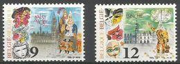 Belgium - 1986 Carnival MNH **    Sc 1237-8 - Unused Stamps