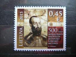 "Statesman Mikolaj ""The Black"" Radziwill # Lithuania Litauen Lituanie 2015 ** MNH # Mi.1184 - Lithuania"