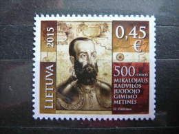 "Statesman Mikolaj ""The Black"" Radziwill # Lithuania Litauen Lituanie # 2015 MNH # Mi.1184 - Lituanie"