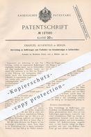 Original Patent - Emanuel Augenfeld , Berlin , 1900 , Vorrichtung An Bufferwagen Zum Festhalten Von Eisenbahnen | Bahn ! - Historische Dokumente