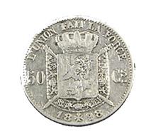 50 Centimes - Belgique - 1898 - TB+ - Légende Fr. - Argent - - 1865-1909: Leopold II