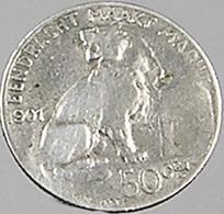 50 Centimes - Belgique - 1901 - TB - Légende Flam. - Argent - - 06. 50 Centimes