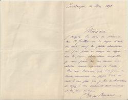 NOCE ORNE MANOIR DE COURBOYER 2 LETTRES DU COMTE DE ROMANET AVEC SIGNATURES ANNEE 1898 - France