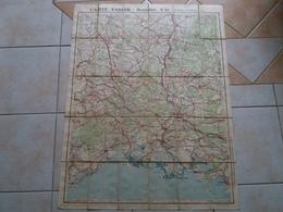 Carte  TARIDE Routière N° 18 Midi De La France Section Centrale    ( Sur Toile / Ou Carte Toilée ) - Roadmaps